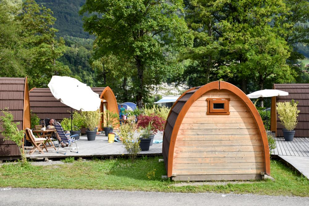 Kleine Grand Tour of Switzerland mit Familie Pod TCS Campingplatz Bönigen