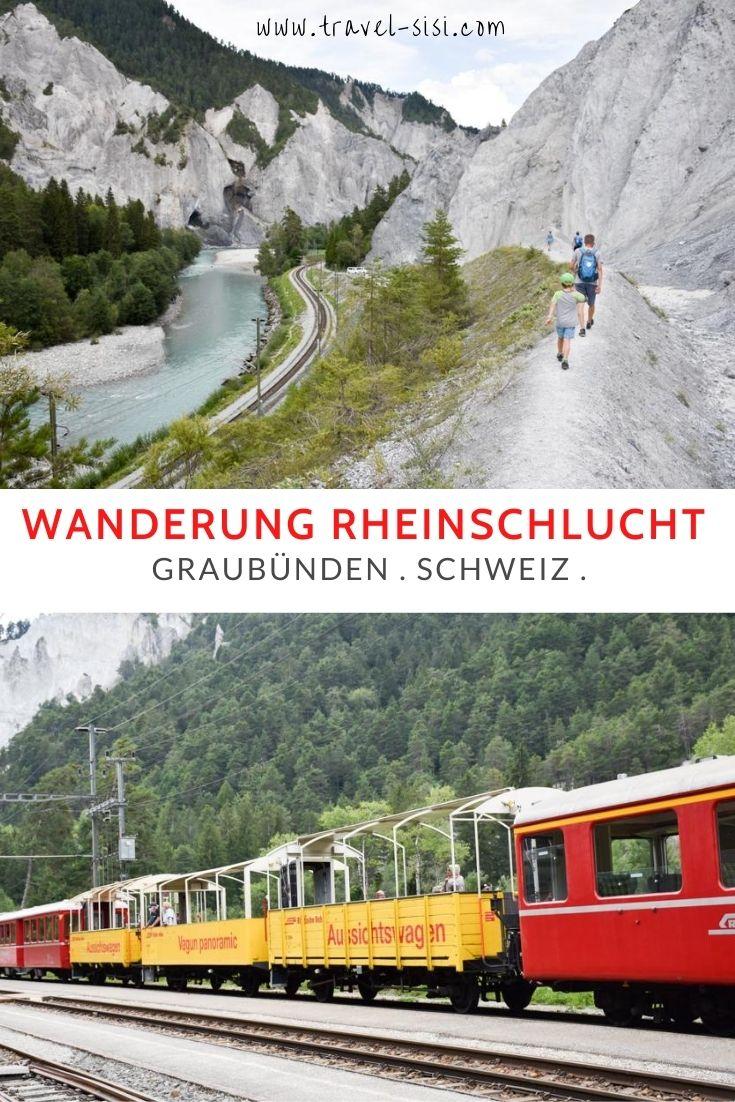 Wanderung Rheinschlucht Graubünden Schweiz
