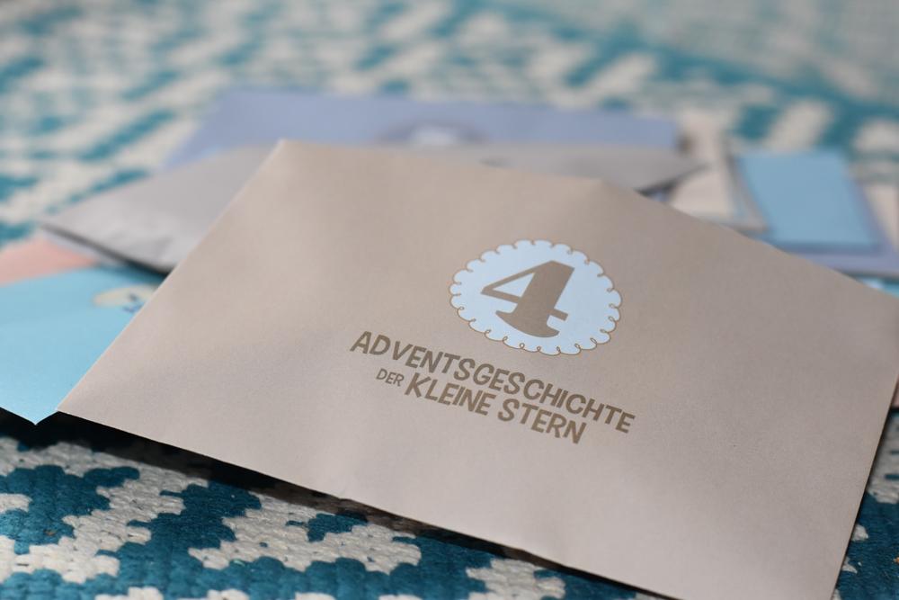 Adventskalender Adventsgeschichte Kleiner Stern 24 Kuverts