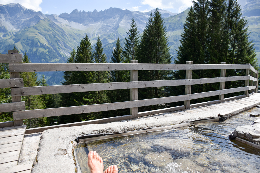 Ausflugstipp Familie Riesenwald Elm Glarus Schweiz Abkühlung mit Aussicht