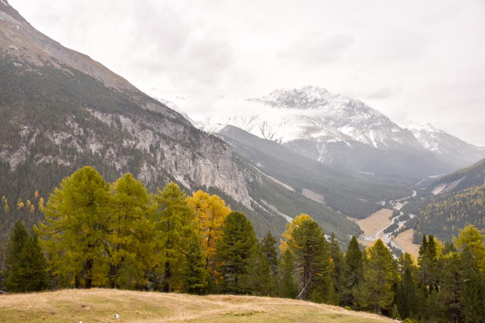 Familienwochenende Schweizerischer Nationalpark Engadin Graubünden Schweiz Aussicht Alp Grimmels