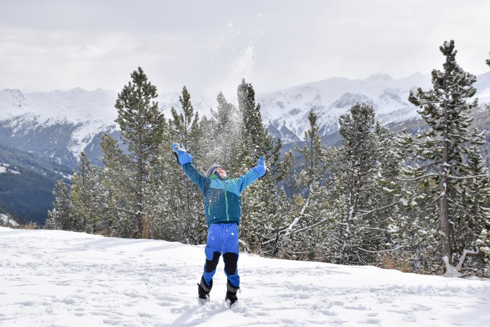 Familienwochenende Schweizerischer Nationalpark Engadin Graubünden Schweiz Freude am Schnee Ofenpass Val Müstair