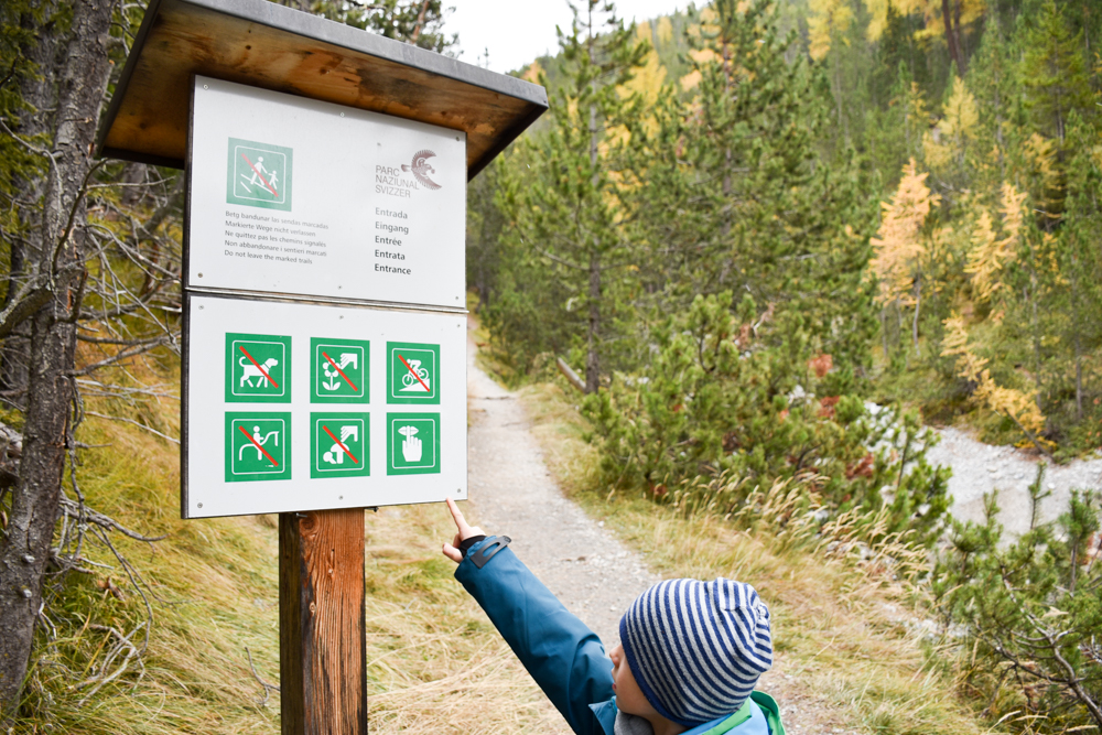 Familienwochenende Schweizerischer Nationalpark Engadin Graubünden Schweiz