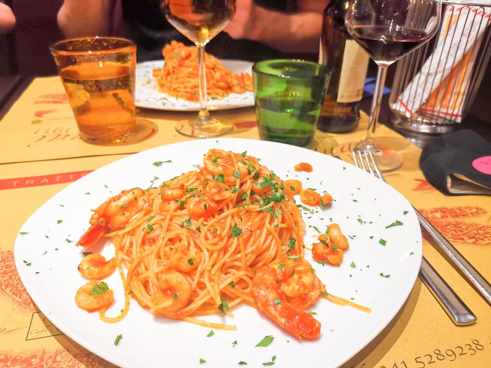Camper Reise Venedig Italien Abendessen