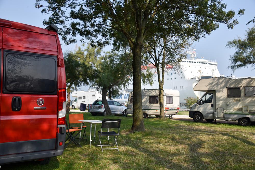 Camper Reise Venedig Italien Camping Fusina direkt am Meer