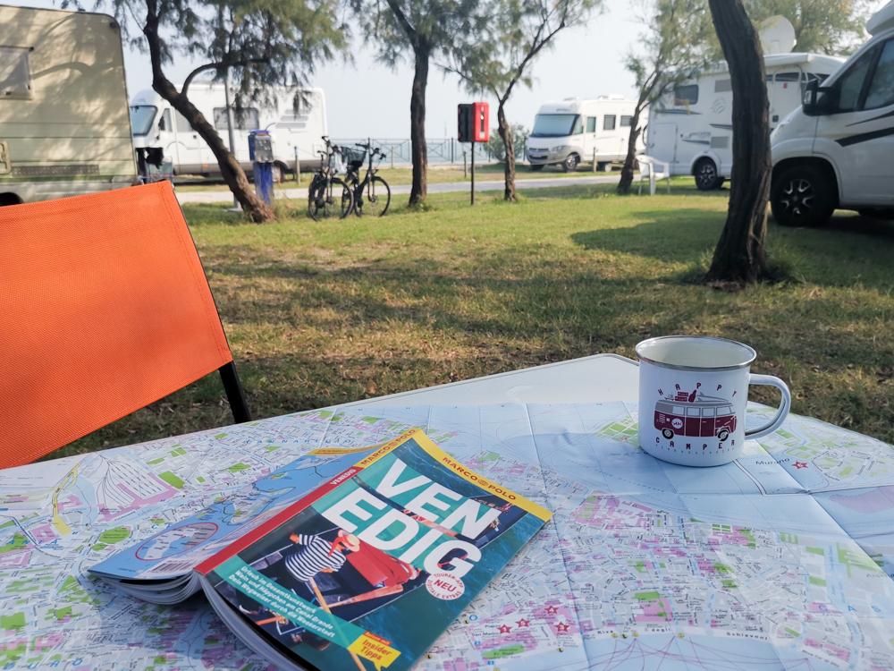 Camper Reise Venedig Italien Camping Fusina mit Blick auf die Lagune
