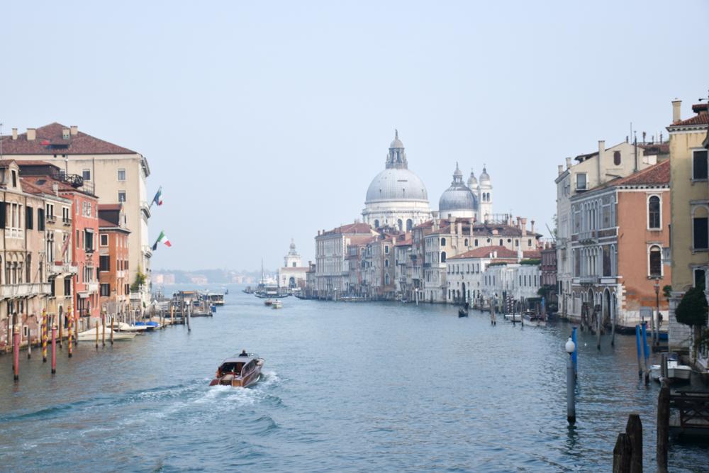 Camper Reise Venedig Italien Canale Grande von der Ponte di Accademia