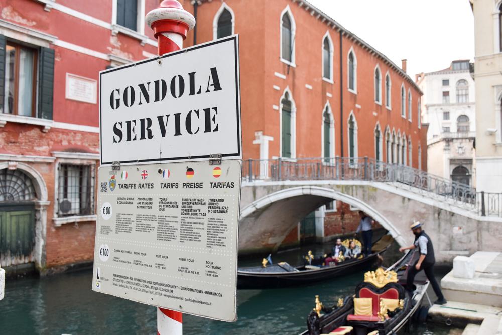 Camper Reise Venedig Italien Gondelpreis Venedig