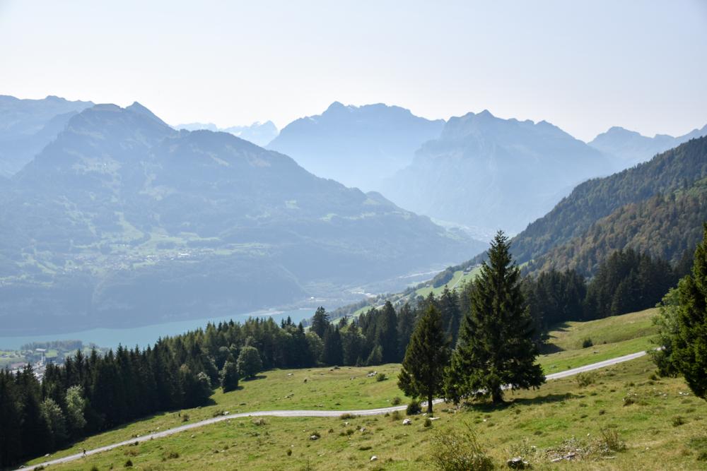 Munggeweg Amden St. Gallen Schweiz Aussicht geniessen