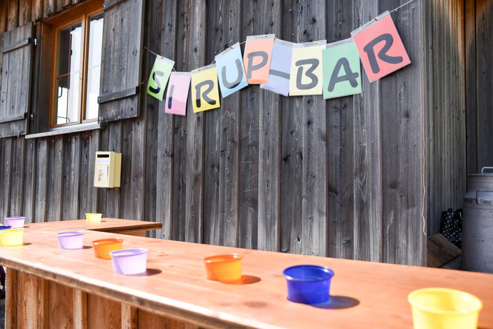 Munggeweg Amden St. Gallen Schweiz Sirup-Bar am Familientag