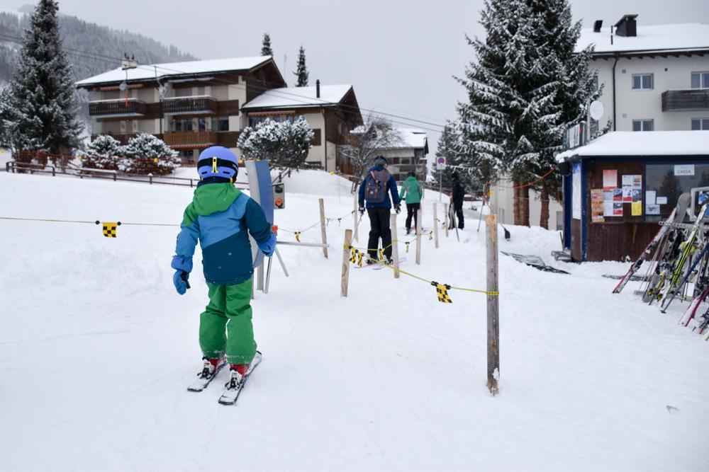 Winterferien Disentis Sedrun Graubünden Schweiz Lift Druni Kids Arena