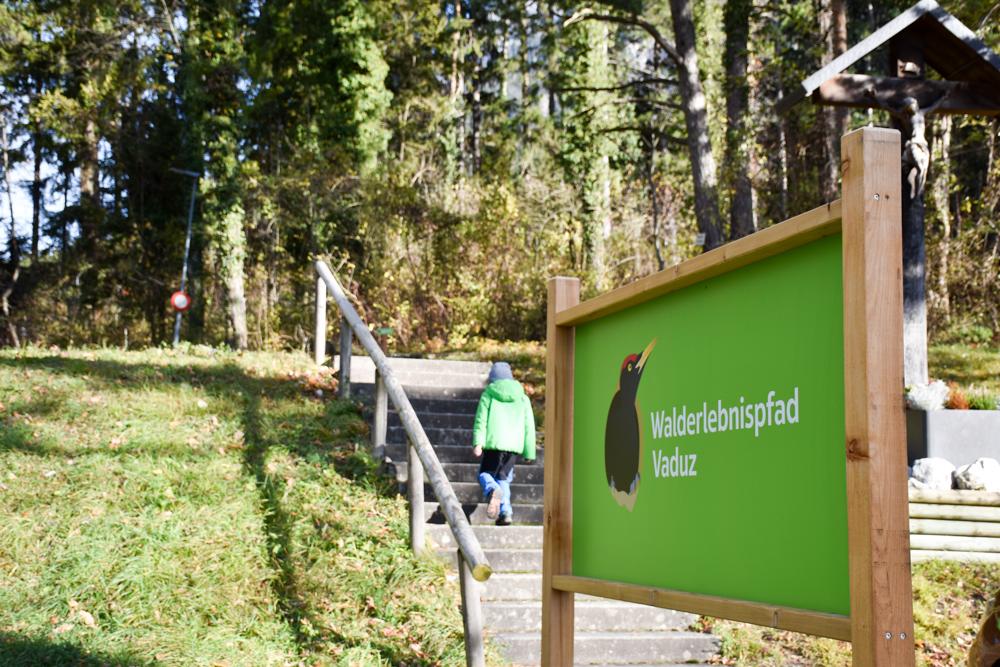 Ausflugstipp Walderlebnispfad Vaduz Liechtenstein Startpunkt