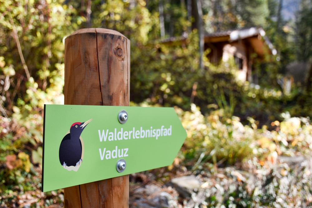 Ausflugstipp Walderlebnispfad Vaduz Liechtenstein Wegweiser