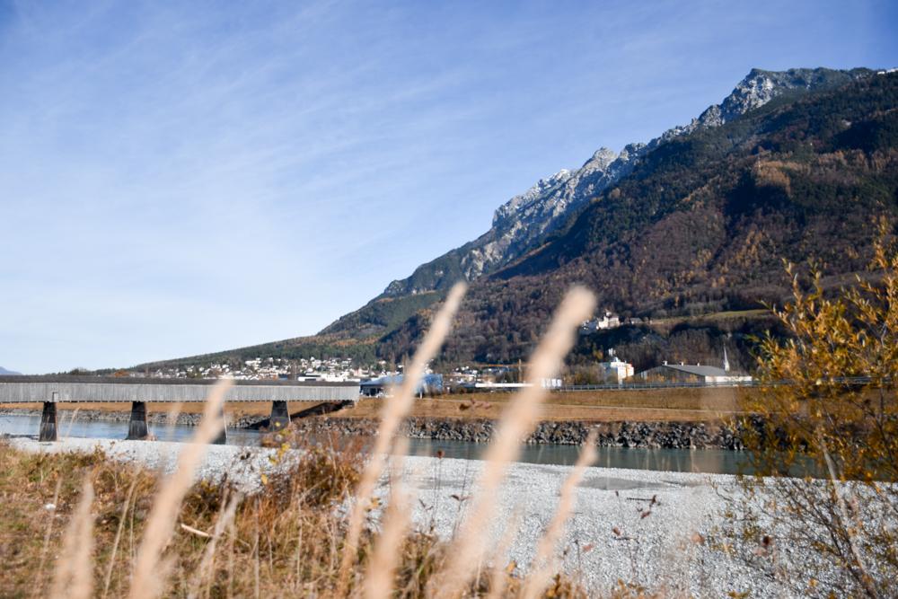 Ausflugstipp Walderlebnispfad Vaduz Liechtenstein alte Rheinbrücke in Liechtenstein