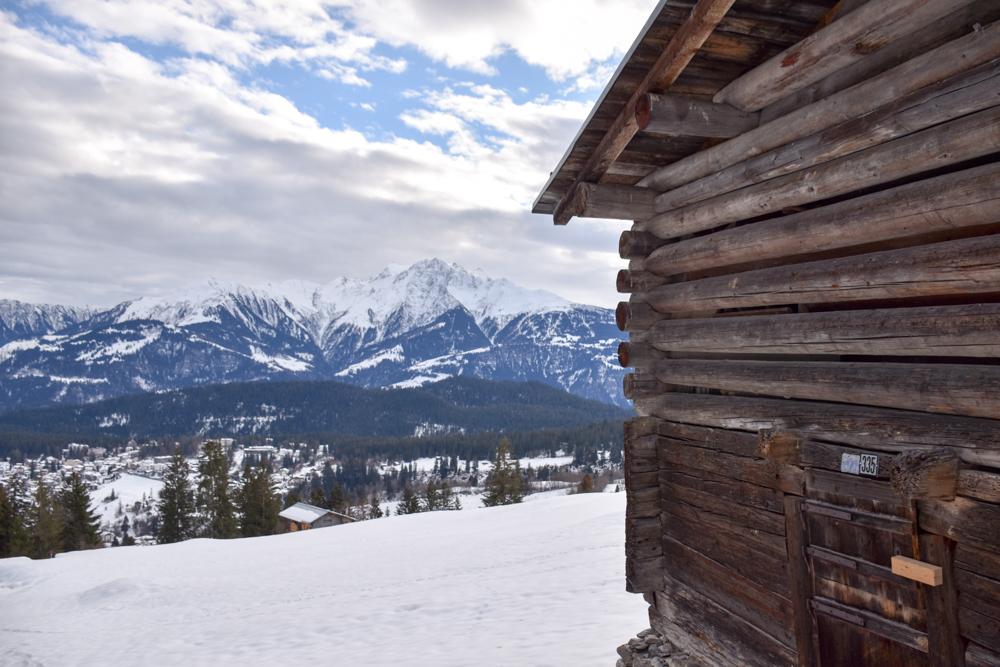 Winterweekend Laax wellnessHostel3000 Graubünden Schweiz Aussicht auf Flims