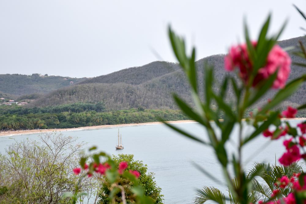 Beste Unterkunft Guadeloupe Basse-Terre Amour Deshaies Blick auf Strand Grand Anse