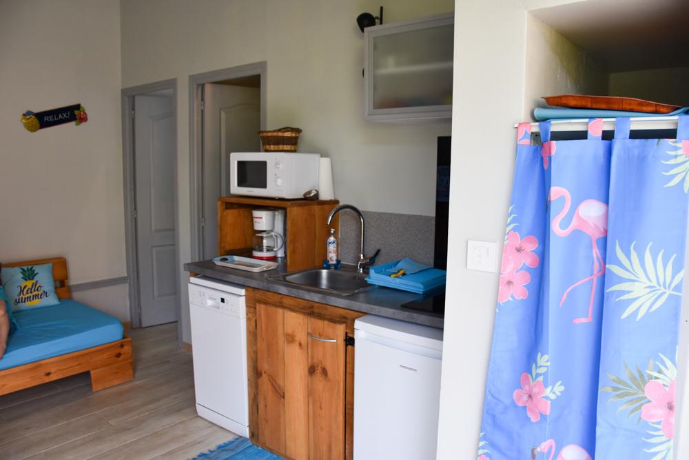 Beste Unterkunft Guadeloupe Basse-Terre Amour Deshaies Küche im Bungalow