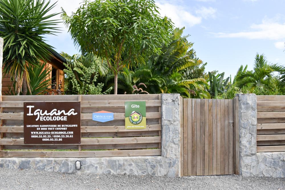 Beste Unterkunft Guadeloupe Grande-Terre Iguana Ecolodge Saint-Francois Eingang