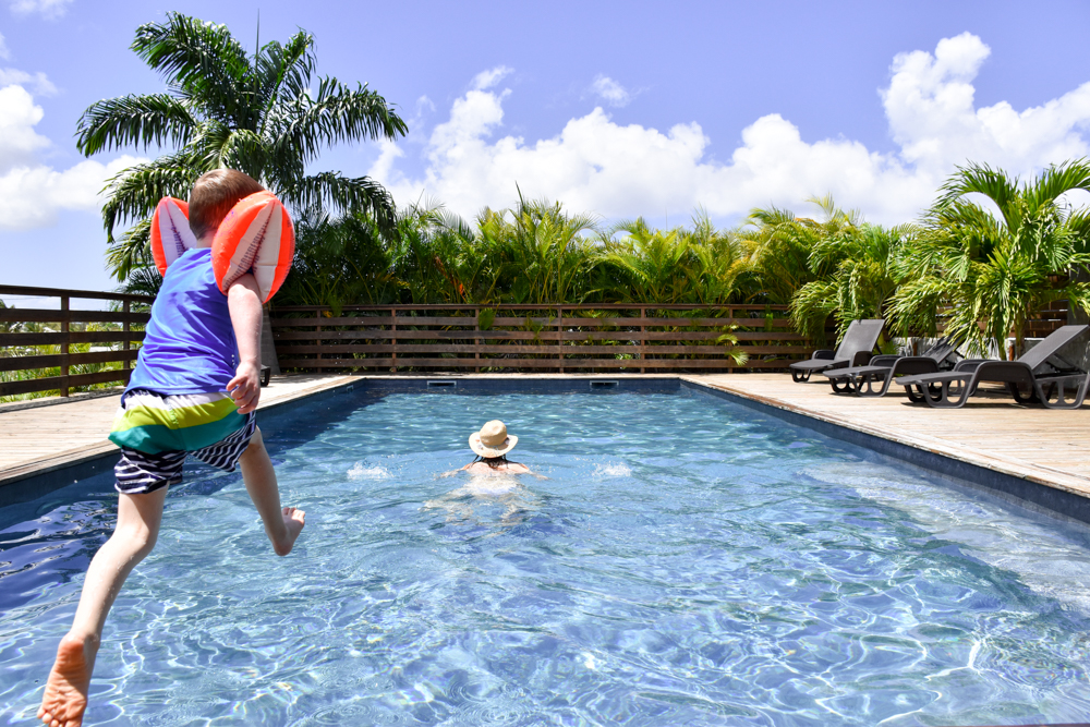 Beste Unterkunft Guadeloupe Grande-Terre Iguana Ecolodge Saint-Francois Pool