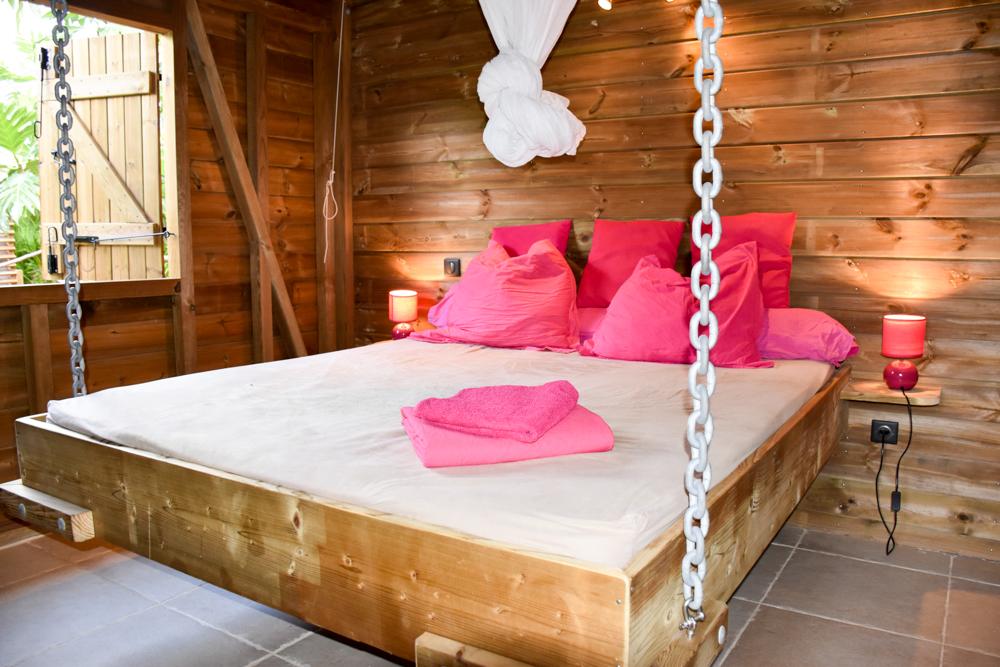 Beste Unterkunft Guadeloupe Grande-Terre Iguana Ecolodge Saint-Francois Schlafzimmer im Bungalow