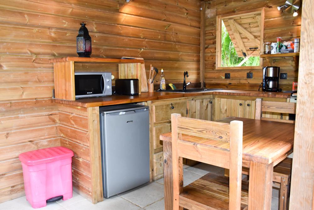 Beste Unterkunft Guadeloupe Grande-Terre Iguana Ecolodge Saint-Francois offene Küche