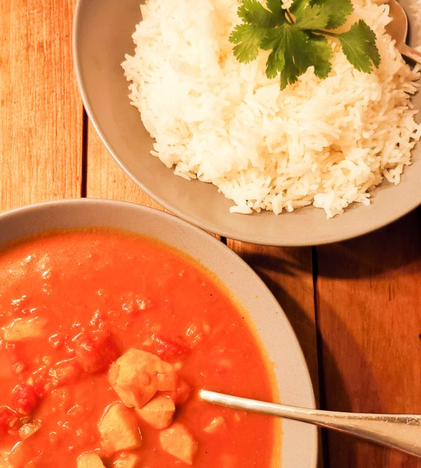 Internationales Rezept Chicken Curry Mauritius