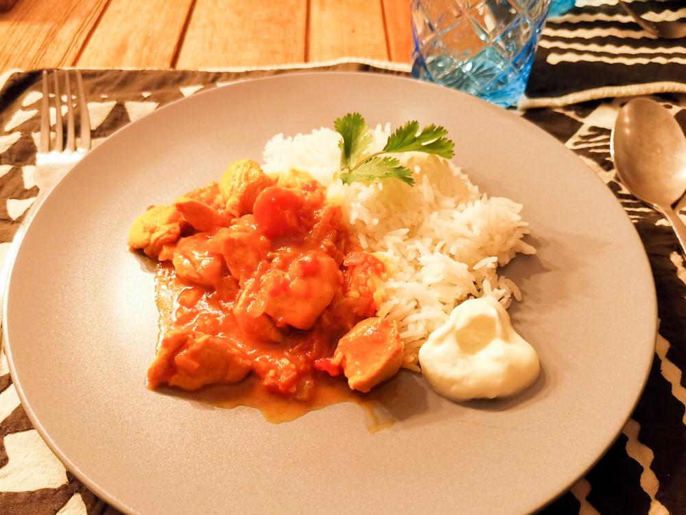 Internationales Rezept Chicken Curry Mauritius fertiges Gericht