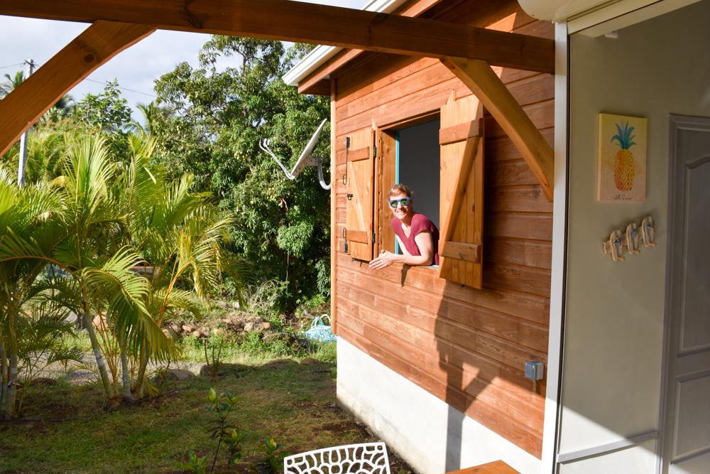 Unterkunft Guadeloupe Basse-Terre Amour Deshaies Travel Sisi Esther Mattle im Bungalow