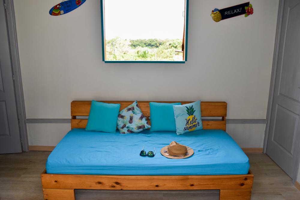 Beste Unterkunft Guadeloupe Basse-Terre Amour Deshaie Sofa im Bungalow