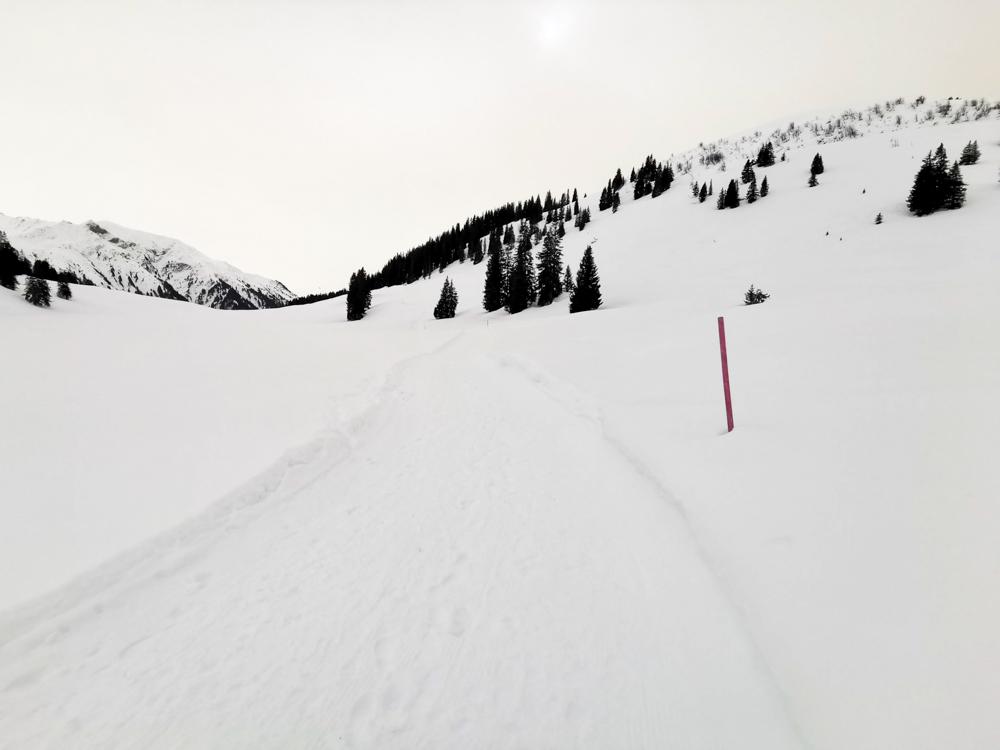 Ausflugstipp Winterwanderung Panoramaweg St. Antönien Pany Prättigau Graubünden Schweiz höchster Punkt der Wanderung