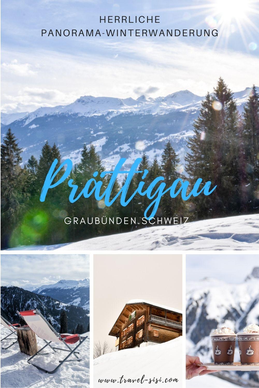 Panorama-Winterwanderung Prättigau Graubünden Schweiz