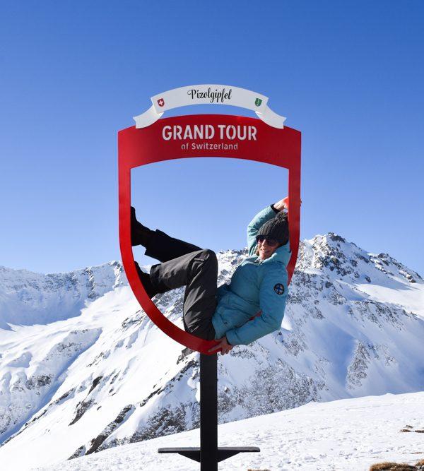 Pizol Panorama Höhenweg Winterwanderung Heidiland Schweiz