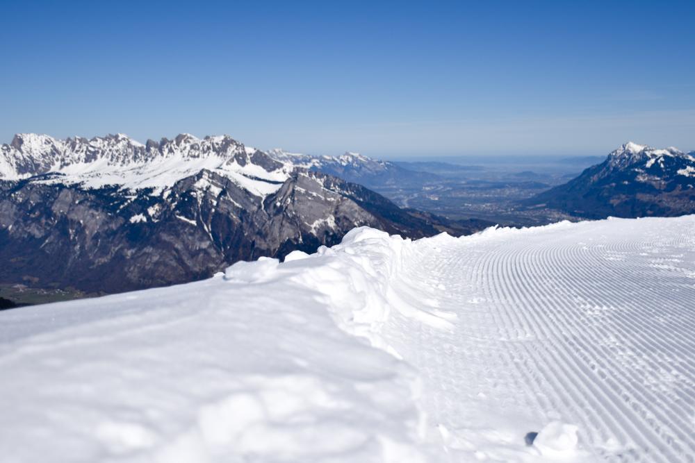 Pizol Panorama Höhenweg Winterwanderung Heidiland Schweiz Aussicht Churfirsten Rheintal