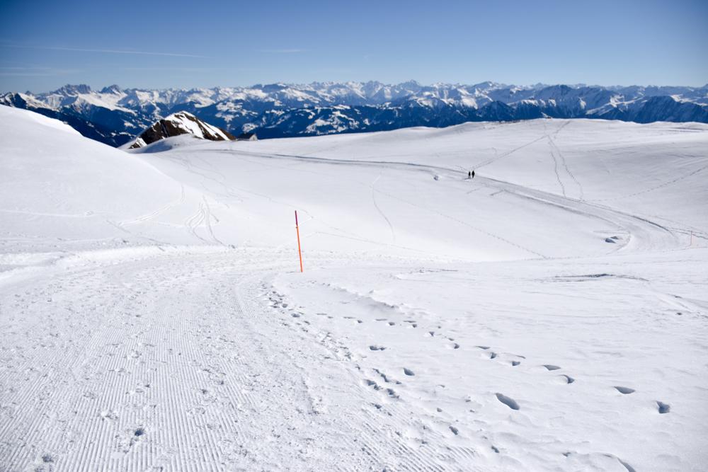 Pizol Panorama Höhenweg Winterwanderung Heidiland Schweiz Bergpanorama