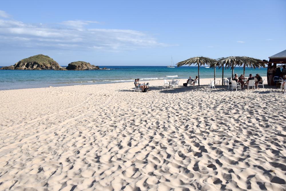 Sardinien Süden Reisetipps Highlights Unterkunft Restaurant Strand Beach Bar am Spiaggia Su Giudeu Chia