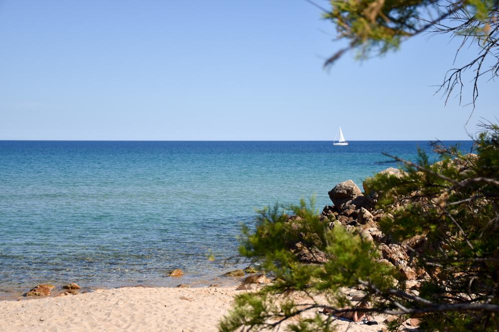 Sardinien Süden Reisetipps Highlights Unterkunft Restaurant Strand Einsamkeit bei der Cala del Morto