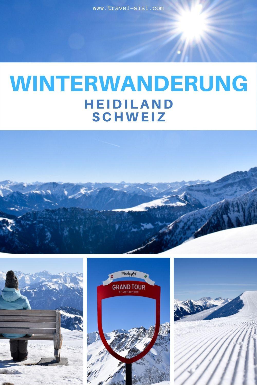 Winterwanderung Heidiland Schweiz