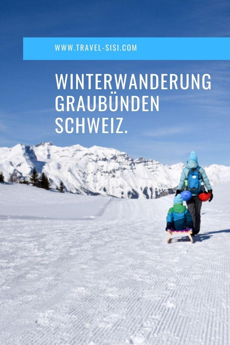 Winterwanderung Viamala Graubünden Schweiz