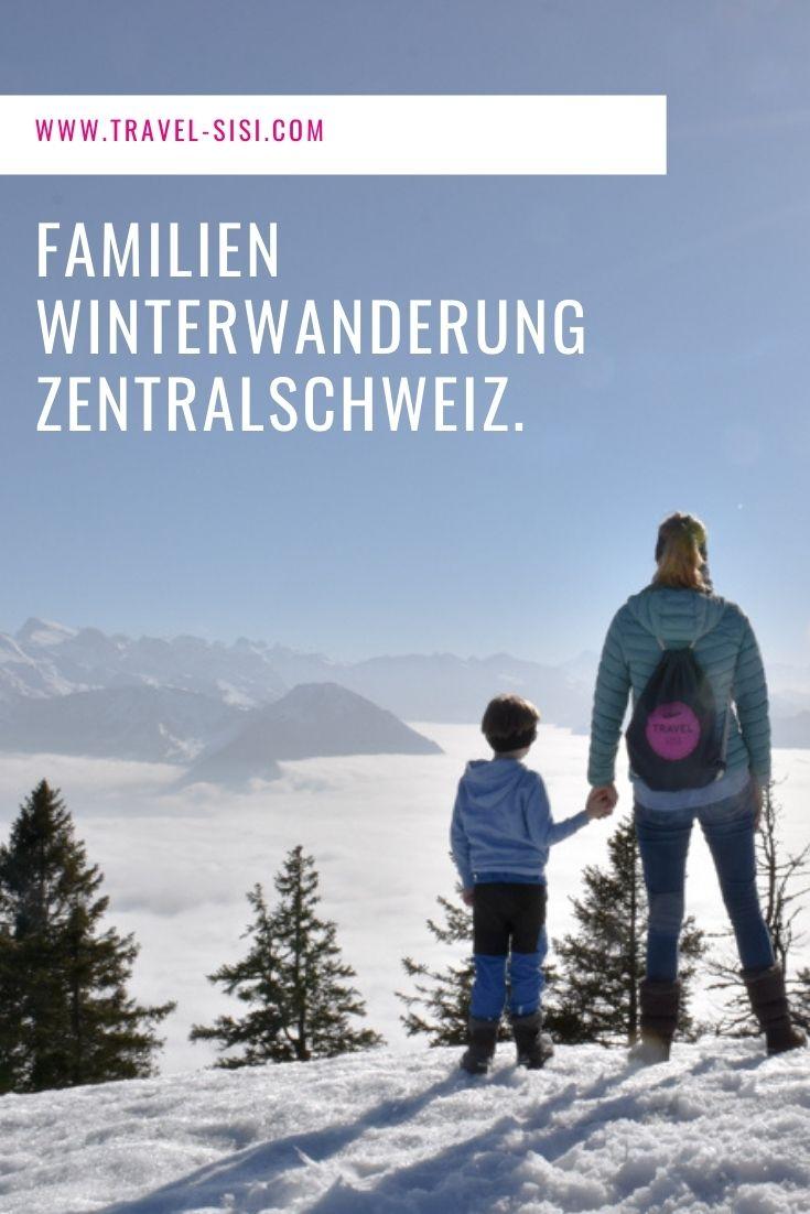Familien Winterwanderung Rigi Zentralschweiz