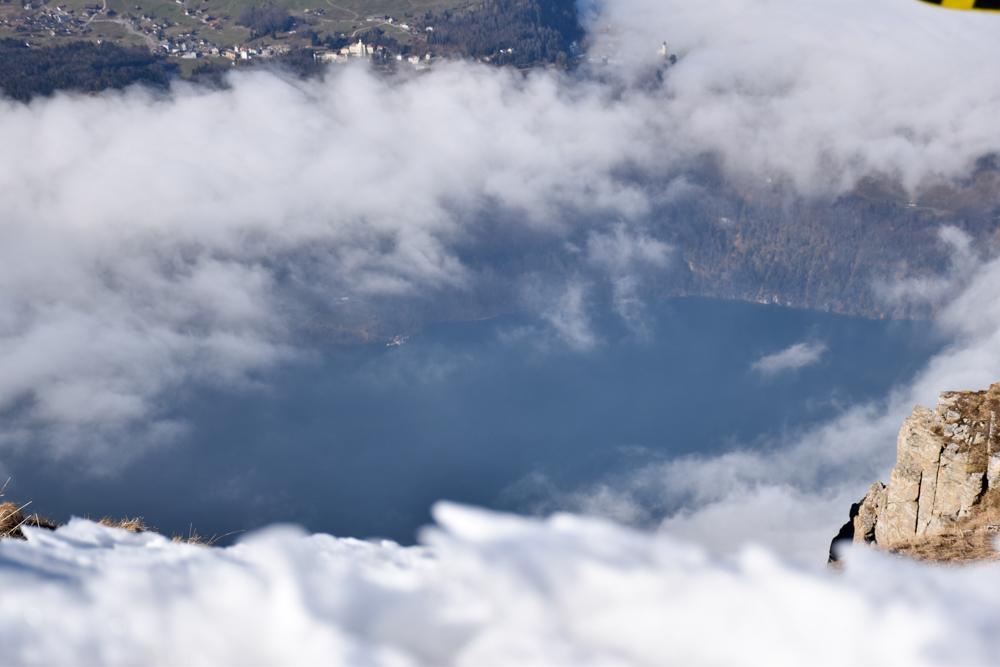 Skigebiet Stoos Ausflug Familie Schwyz Zentralschweiz Schweiz Aussicht Fronalpstock Vierwaldstättersee