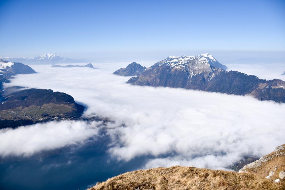 Skigebiet Stoos Ausflug Familie Schwyz Zentralschweiz Schweiz Aussicht Fronalpstock Rigi