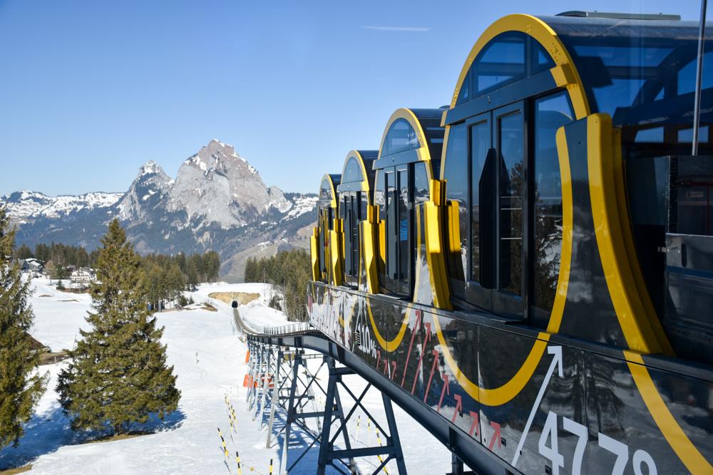 Familien-Skigebiet Stoos Schwyz Zentralschweiz Schweiz Stoosbahn Weltrekord