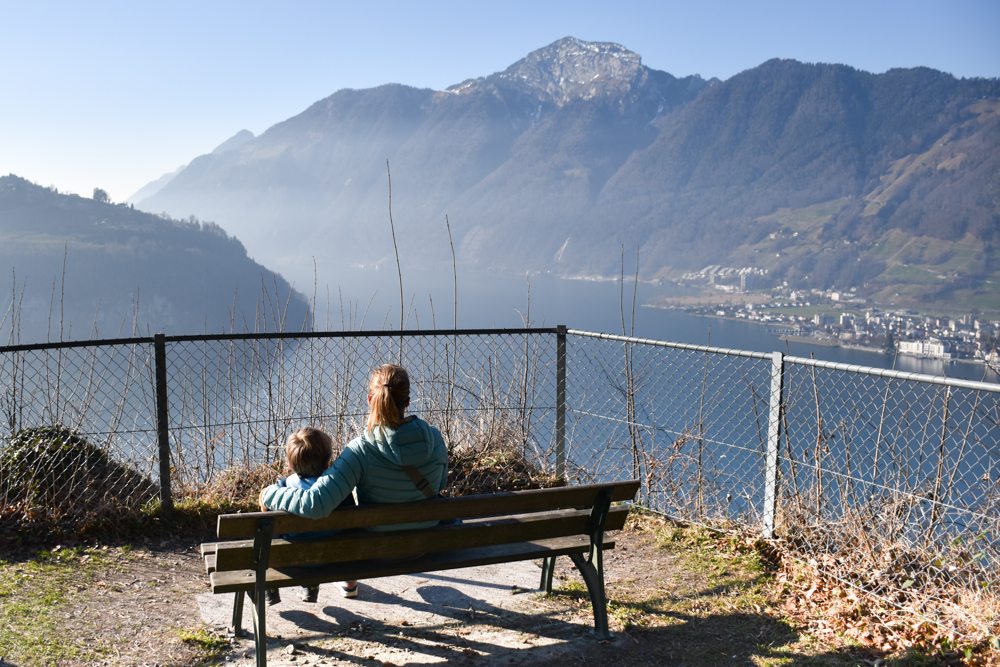 Unterkunft Reka-Ferienresort Swiss Holiday Park Morschach Schwyz Schweiz Aussicht Waldpark