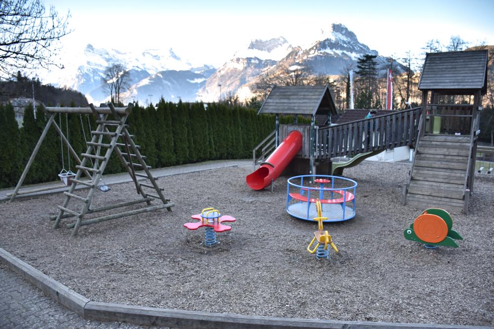 Unterkunft Reka-Ferienresort Swiss Holiday Park Morschach Schwyz Schweiz Spielplatz