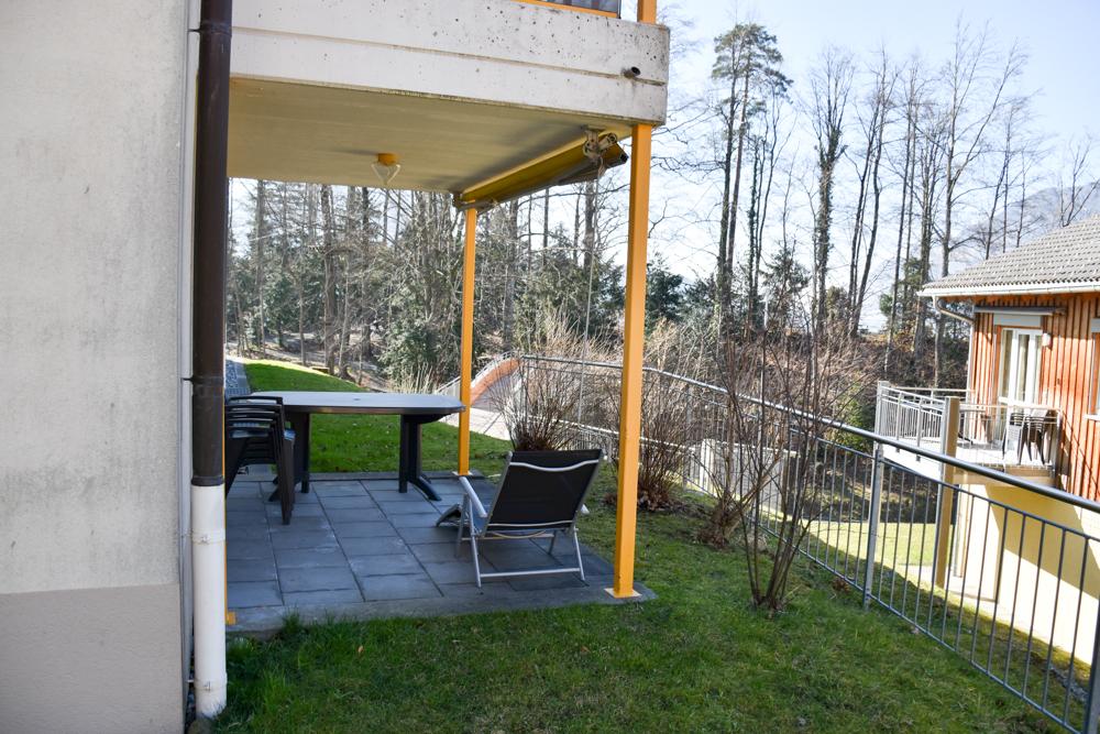 Unterkunft Reka-Ferienresort Swiss Holiday Park Morschach Schwyz Schweiz Terrasse
