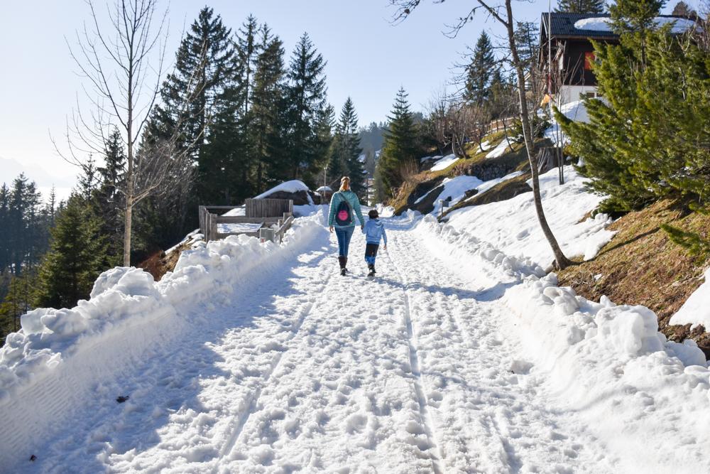 Winterwanderung Rigi Ausflug Familie Zentralschweiz Panoramaweg Rigi First nach Rigi Kaltbad
