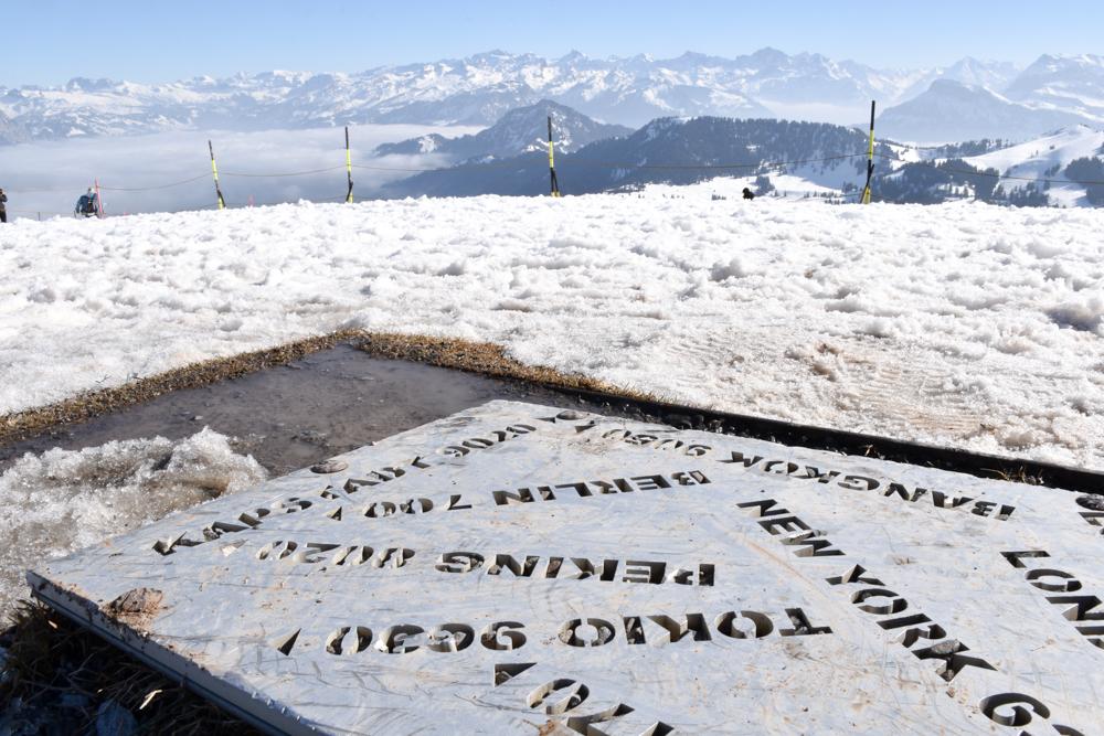 Winterwanderung Rigi Ausflug Familie Zentralschweiz Tafel Distanzen Rigi Kulm