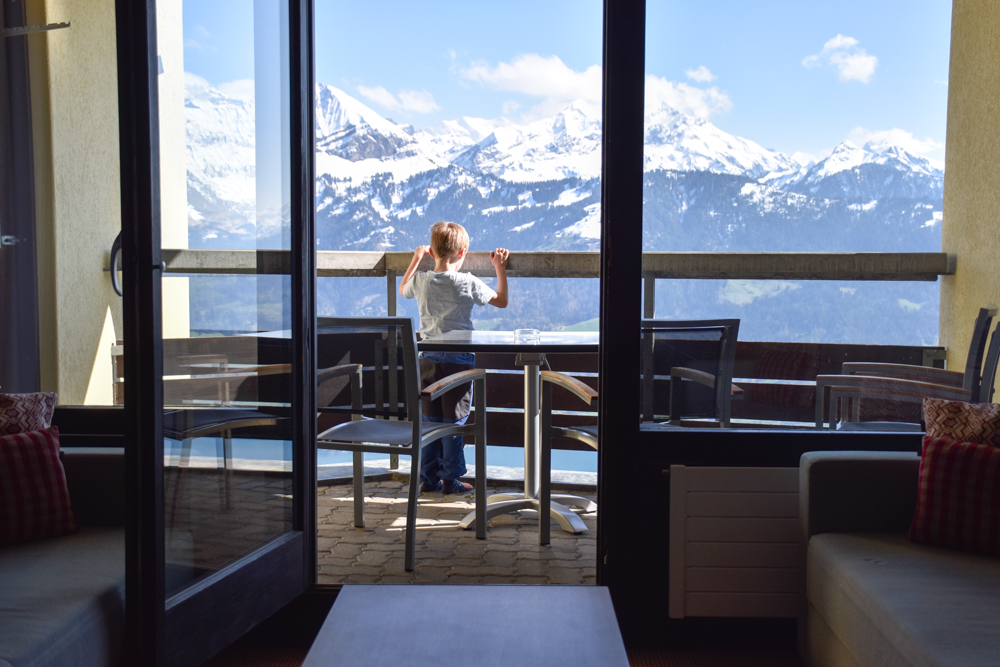 Interlaken Berner Oberland Schweiz mit Kind Aussicht Dorint Hotel Beatenberg