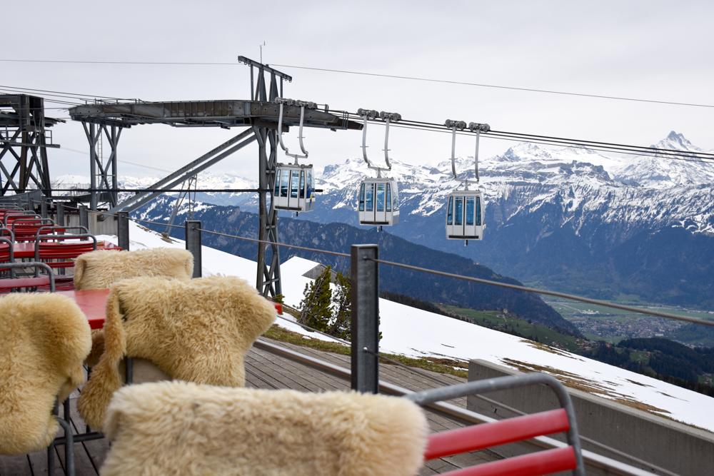 Interlaken Berner Oberland Schweiz mit Kind Berghaus Niederhorn
