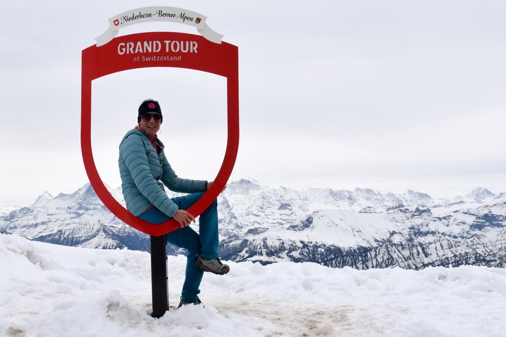 Interlaken Berner Oberland Schweiz mit Kind Niederhorn Eiger Mönch und Jungfrau